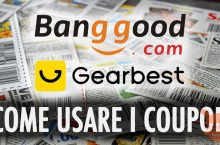 Guida – Come inserire i coupon nei siti Gearbest e Banggood