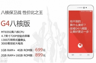 JiaYu G4s OctaCore for sale officially from April 14