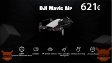 Discount Code - DJI Mavic Air RC Drone at 621 € priority shipping INCLUDED!