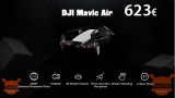 Code de réduction - Drone DJI Mavic Air RC à 623 € expédition prioritaire INCLUS!