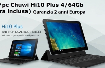 Discount Code - CHUWI Hi10 Plus 4 / 64Gb to 141 € KEYBOARD INCLUDED warranty 2 years Europe!