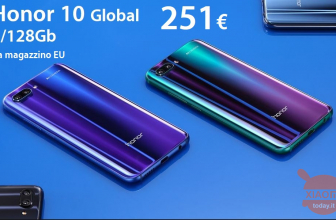 Oferta - Huawei Honor 10 Global (banda 20) 4 / 128Gb em 251 € no armazém da UE