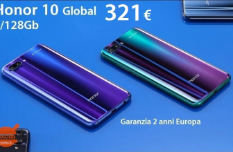 Code Promo - Huawei Honor 10 Global (Bande 20) 4 / 128Gb à 321 € Livraison Italy Express incluse