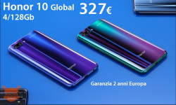 Offer - Huawei Honor 10 Global (20 band) 4 / 128Gb to 327 € Shipping Italy Express included