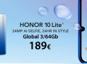 Aanbieding - Huawei Honor 10 Global (20-band) 4 / 128Gb bij 296 € en Honor 10 Lite Global 3 / 64Gb bij 189 € 2 guarantee Europe years