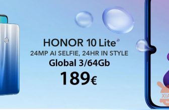 Oferta - Huawei Honor 10 Global (zespół 20) 4 / 128Gb w 296 € i Honor 10 Lite Global 3 / 64Gb w 189 € 2 gwarantuje lata Europy