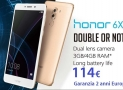 Code promo - Huawei Honor 6X 3 / 32Gb Gold à 114 € Garantie 2 ans Europe Italie express inclus