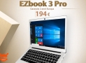Offer - EZBOOK 3 PRO Jumper 6 / 64 Gb Notebook Silver to 194 € 2 Warranty years Europe
