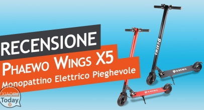 Phaewo Wings electric scooter review X5 - A valid alternative to Xiaomi MXXUMX