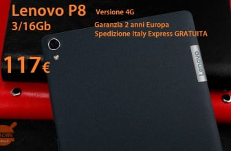 Discount Code - Lenovo P8 Tablet black 3 / 16Gb 4g version to 117 € 2 guarantee years Europe Italy Express FREE
