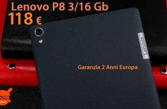 Offer - Lenovo P8 tablet black 3 / 16Gb 4g version to 118 € 2 guarantee years Europe
