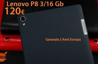 Discount Code - Lenovo P8 tablet black 3 / 16Gb 4g version to 120 € 2 guarantee years Europe