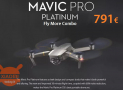 Discount Code - DJI Mavic Pro Platinum Fly More Combo 791 € Warranty 2 Years Europe