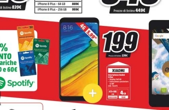 Xiaomi Redmi 5 Plus, also available from MediaWorld