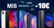 Offer - Weekend offers for the Mi8 series (normal-lite-pro) from GeekMall.it