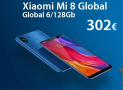 Discount Code - Xiaomi Mi8 Global 6 / 64GB at 284 € and 6 / 128Gb at 302 € (bootloader unlocked)