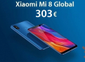Discount Code - Xiaomi Mi8 Global 6 / 64GB at 303 € and 6 / 128Gb at 330 € (bootloader unlocked)