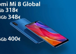 Discount Code - Xiaomi Mi8 6 / 128Gb global from 348 € the 6 / 64Gb to 318 € and the 6 / 256Gb to ONLY 400 €!