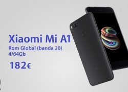 Offer - Xiaomi Mi A1 4 / 64Gb to 182 € and only 190 € from EU stock for a few days!