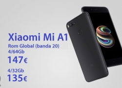 Discount Code - Xiaomi Mi A1 4 / 64Gb to 147 € and 4 / 32Gb to 135 € Shipping European Direct Mail to 2.8 € (no customs)