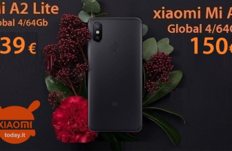 Discount Code - Xiaomi Mi A2 Lite 4 / 64Gb to 139 € and Mi A2 4 / 64Gb to 150 €