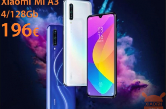 Discount Code - Xiaomi Mi A3 Global 4 / 128Gb at 196 € and the 4 / 64Gb at 178 €