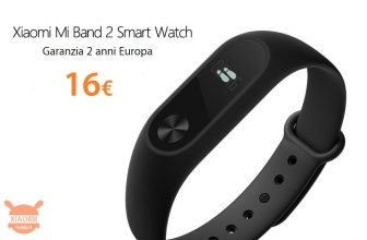 Offer - Xiaomi Mi Band 2 to 16 € with 2 years of warranty Europe and Italy Express to 2 €