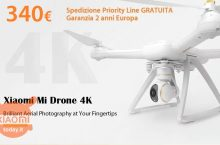 Discount Code - XIAOMI Mi 4K Drone with 340 € 2 European years warranty and FREE priority line shipping