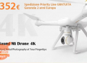 Offer - XIAOMI Mi 4K Drone with 352 € 2 years European warranty and FREE priority line shipping