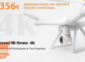 Offer - XIAOMI Mi 4K Drone with 356 € 2 years European warranty and FREE priority line shipping