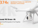 Offer - XIAOMI Drone 4K to 374 € 2 guarantee years Europe priority line FREE