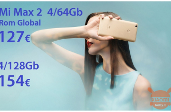 オファー-Xiaomi Mi Max 2 Gold 4 / 64Gb Rom Global at 127€および4 / 128Gb at 154€from EU stock