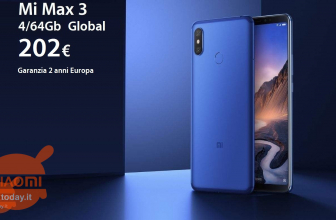 Discount Code - Mi Max 3 GLOBAL (Banda20) 4 / 64Gb to 202 € 2 warranty years Europe and Italy Express included
