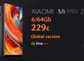 Offerta – Mi Mix 2 Black Global 6/64Gb a 229€ da Amazon Prime