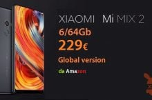 Oferta - Mi Mix 2 Black Global 6 / 64Gb do 229 € z Amazon Prime