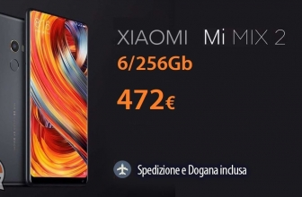 Discount Code - Mi 2 Mix Black 6 / 256Gb to 472 € and only 398 € for 64Gb version 2 years European warranty (Rom Global) Italy Express shipping included