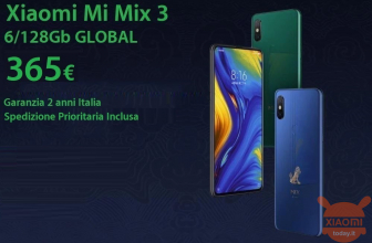 Discount Code - Xiaomi Mi Mix 3 GLOBAL 6 / 128Gb at 365 € warranty 2 years Italy priority shipping included and 385 € from amazon prime