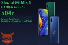 Discount Code - Xiaomi Mi Mix 3 GLOBAL 6 / 128Gb to 504 € 2 years warranty Italy and FREE 24h shipment from Italy