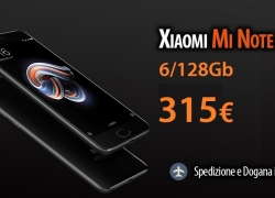 Discount Code - Xiaomi Mi Note 3 black version 128Gb to 315 € shipping Italy Express Included