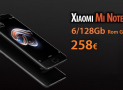 Offer - Xiaomi Mi Note 3 Black 6 / 128Gb to 258 € Rom Global