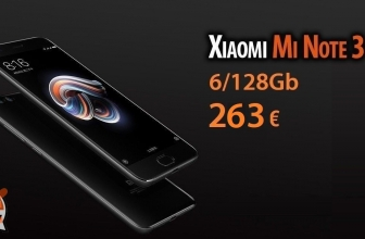 Discount Code - Xiaomi Mi Note 3 Black 6 / 128Gb to 263 €! and 6 / 64Gb to 249 €! Unmissable !!