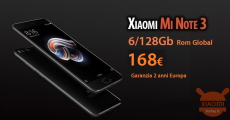 Offer - Xiaomi Mi Notes 3 Black 6 / 128Gb at 168 € warranty 2 years Europe priority shipment Included