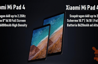 קוד הנחה - Xiaomi Mi Pad 4 8 ″ LTE 4G 4 / 64GB Global ROM במחיר של 185 €