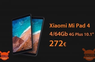 Discount Code - Xiaomi Mi Pad 4 Plus 10.1 ″ LTE 4 / 64Gb to 272 € warranty 2 years Europe priority shipment Included
