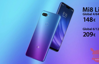Code de réduction - Xiaomi Mi8 Lite Global 4 / 64Gb à 148 € et 6 / 128Gb à 209 €