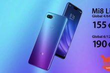 Discount Code - Xiaomi Mi8 Lite Global 4 / 64Gb to 155 € and 6 / 128Gb to 190 €