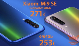 كود الخصم - Xiaomi Mi9 SE Global (20 Band) 6 / 128Gb بسعر 271 € و 6 / 64GB بسعر 253 €