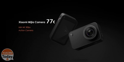 Discount Code - Xiaomi Mijia Mini Camera 4K 30fps Action Camera Black at 77 €