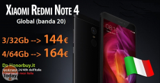 Code de réduction - Redmi Note 4 Global (20 bandes) 3 / 32Gb à 144 € sur Honorbuy.it