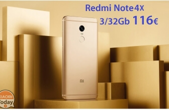 Discount Code - Redmi Notes 4x 3 / 32Gb Rom Global from 116 € Shipping Italy Express included